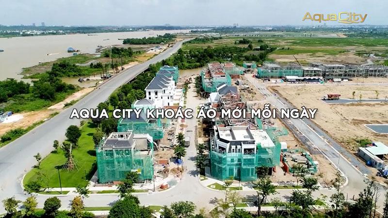 Tiến độ xây dựng dự án Aqua City